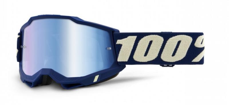 100% Accuri 2 Crossglasögon Deepmarine, Blåspegel Siktskiva