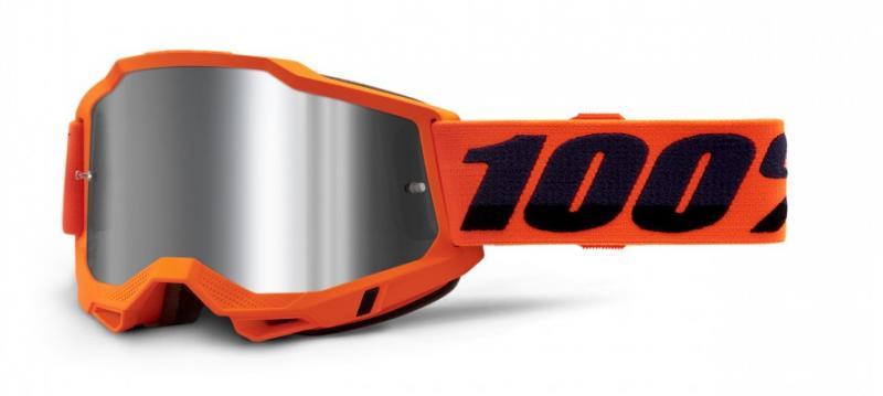 100% Accuri 2 Crossglasögon Orange, Silverspegel Siktskiva