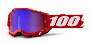100% Accuri 2 Crossglasögon Röd, Blå/Rödspegel Siktskiva