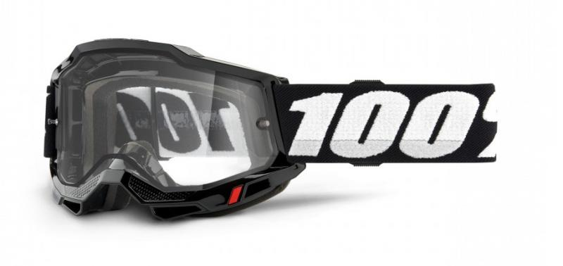 100% Accuri 2 Enduro Moto Crossglasögon Svart, Klar Siktskiva