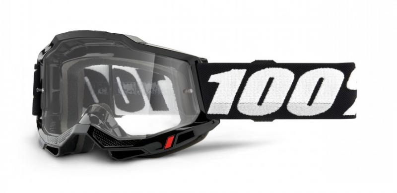 100% Accuri 2 OTG Crossglasögon Svart, Klar Siktskiva