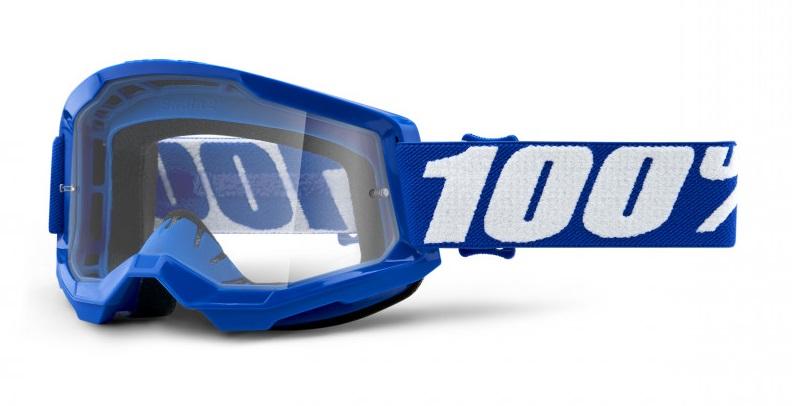 100% Strata 2 Crossglasögon Blå, Klar Siktskiva