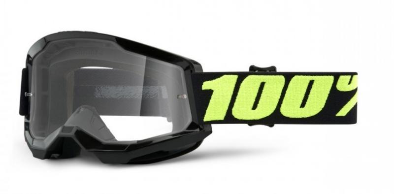 100% Strata 2 Crossglasögon Upsol, Klar Siktskiva