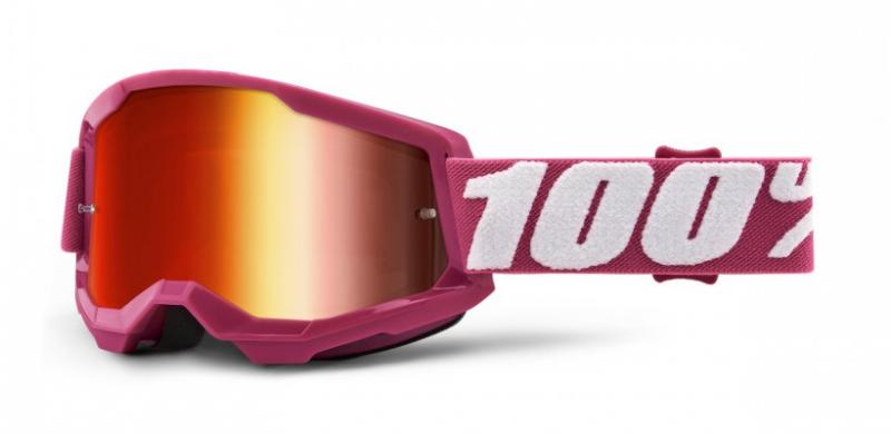 100% Strata 2 Crossglasögon Fletcher, Rödspegel Siktskiva