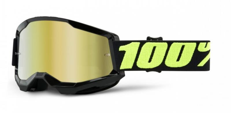 100% Strata 2 Crossglasögon Upsol, Guldspegel Siktskiva
