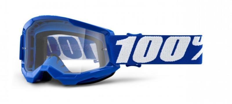 100% Strata 2 Barn Crossglasögon Blå, Klar Siktskiva