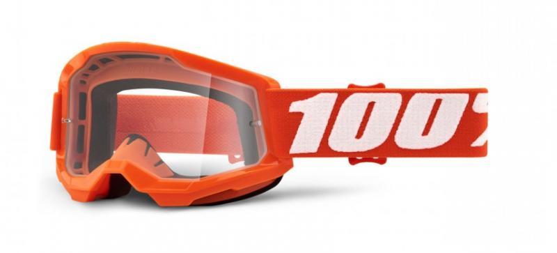 100% Strata 2 Barn Crossglasögon Orange, Klar Siktskiva