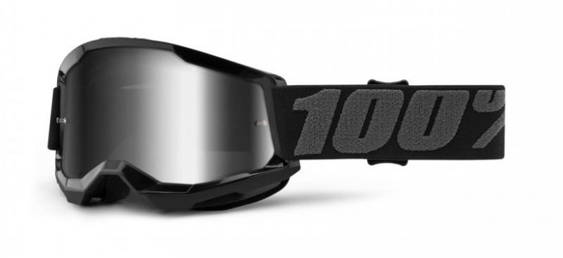 100% Strata 2 Barn Crossglasögon Svart, Silverspegel Siktskiva