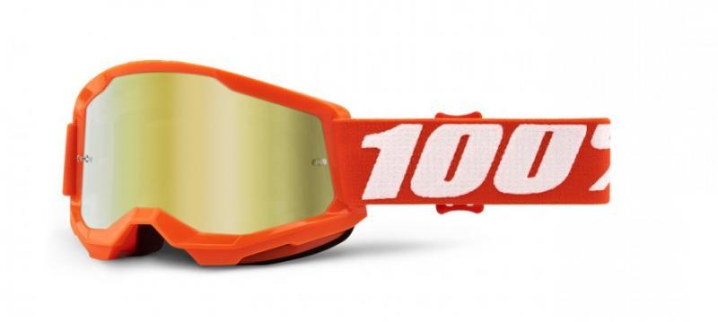 100% Strata 2 Barn Crossglasögon Orange, Guldspegel Siktskiva
