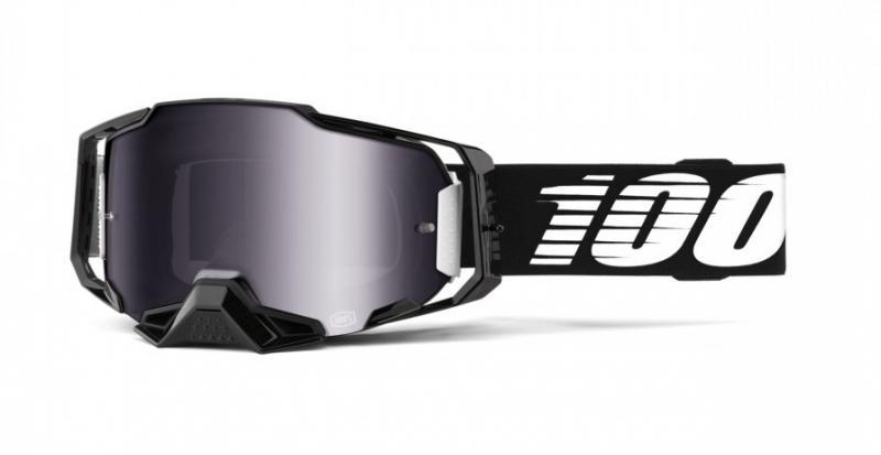 100% Armega Crossglasögon Svart, Silverspegel Siktskiva