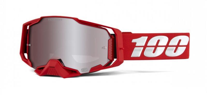 100% Armega War Red Crossglasögon Röd, Silverspegel Siktskiva