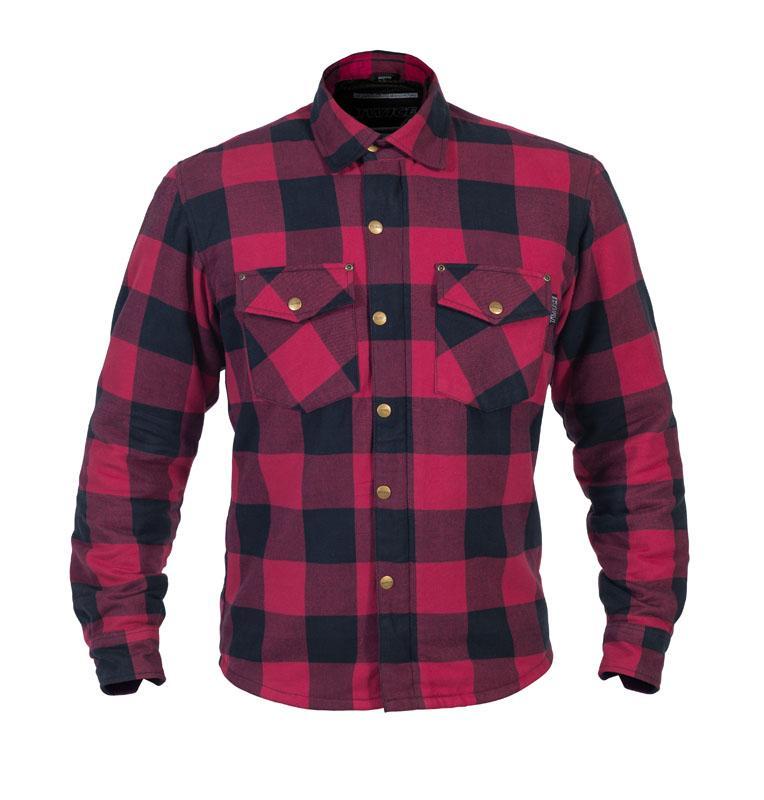 Twice Dusty Flanell Herr Textil Skjorta Röd