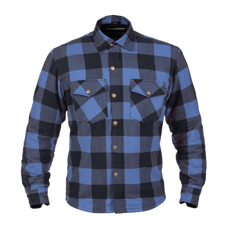 Twice Dusty Flanell Herr Textil Skjorta Blå