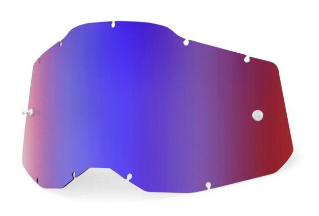 100% AC2 / RA2 / ST2 Enkel Siktskiva Rödspegel/Blåspegel