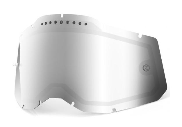 100% AC2 / RA2 / ST2 Ventilerad Dubbel Siktskiva Silverspegel