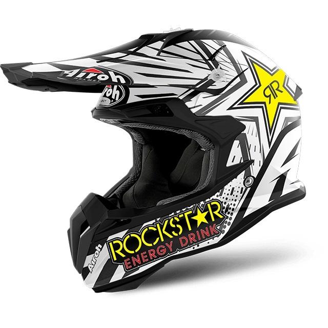 Airoh Terminator Open Vision Rockstar Crosshjälm Mattvit/Svart