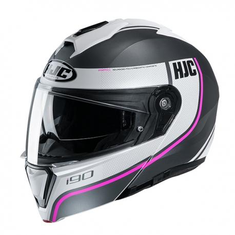 HJC i90 Davan MC8SF Hjälm Svart/Vit/Rosa