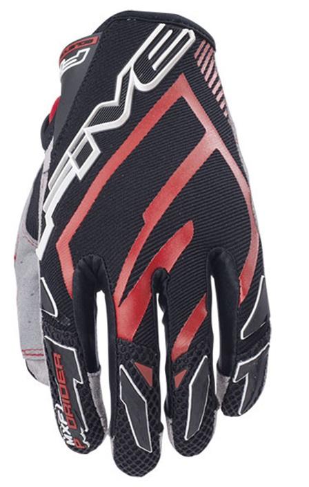 Five MXF Pro Rider Crosshandskar Svart/Röd
