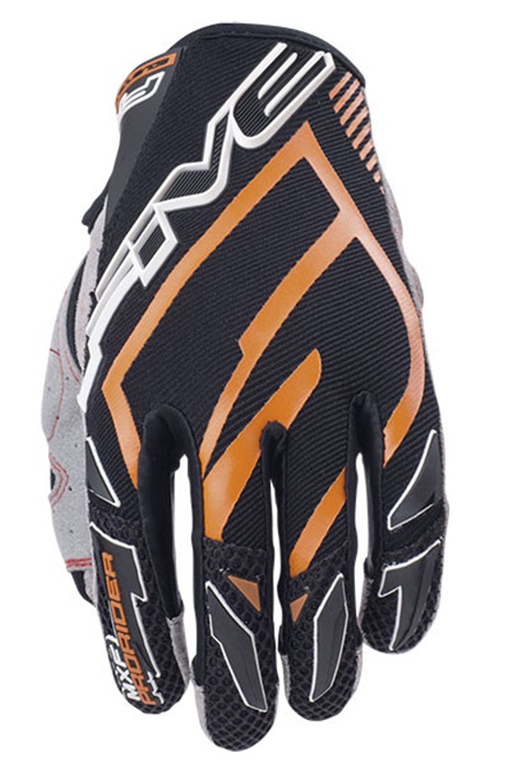 Five MXF Pro Rider Crosshandskar Svart/Orange