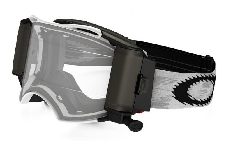 Oakley Airbrake® MX Roll-Off Crossglasögon Mattvit Speed RR, Klar Siktskiva