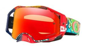 Oakley Airbrake® MX Jeffrey Herlings Signature Crossglasögon Röd/Vit/Svart, Prizm MX Spegel Siktskiva