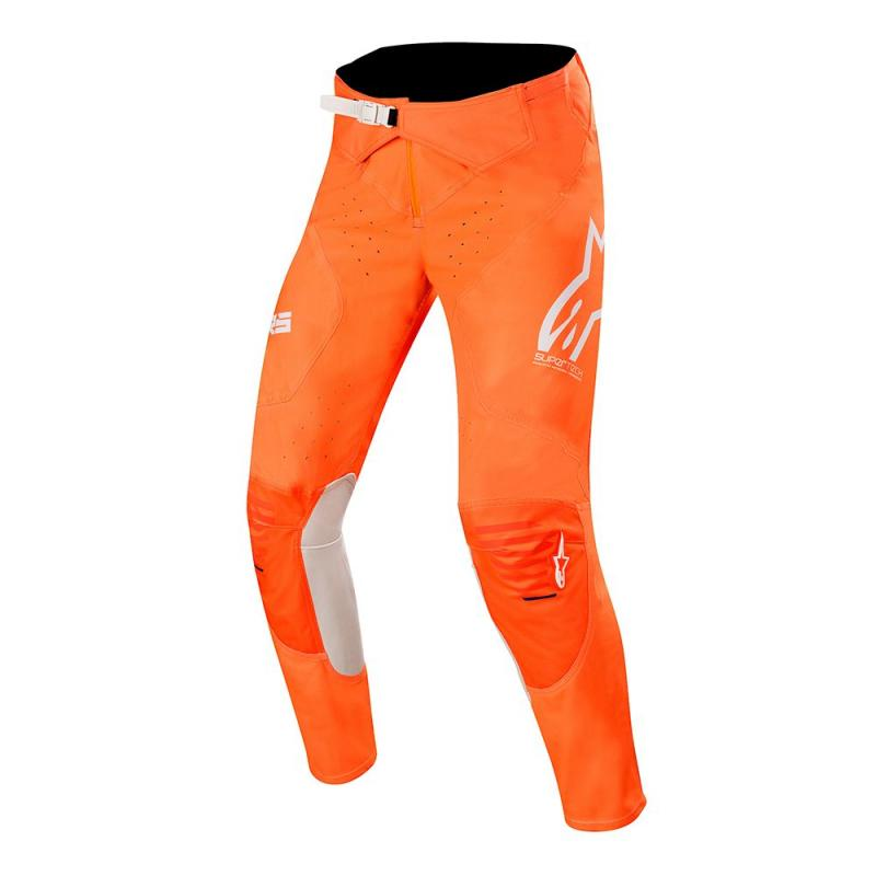 Alpinestars Supertech Crossbyxor Fluo-Orange/Vit/Blå