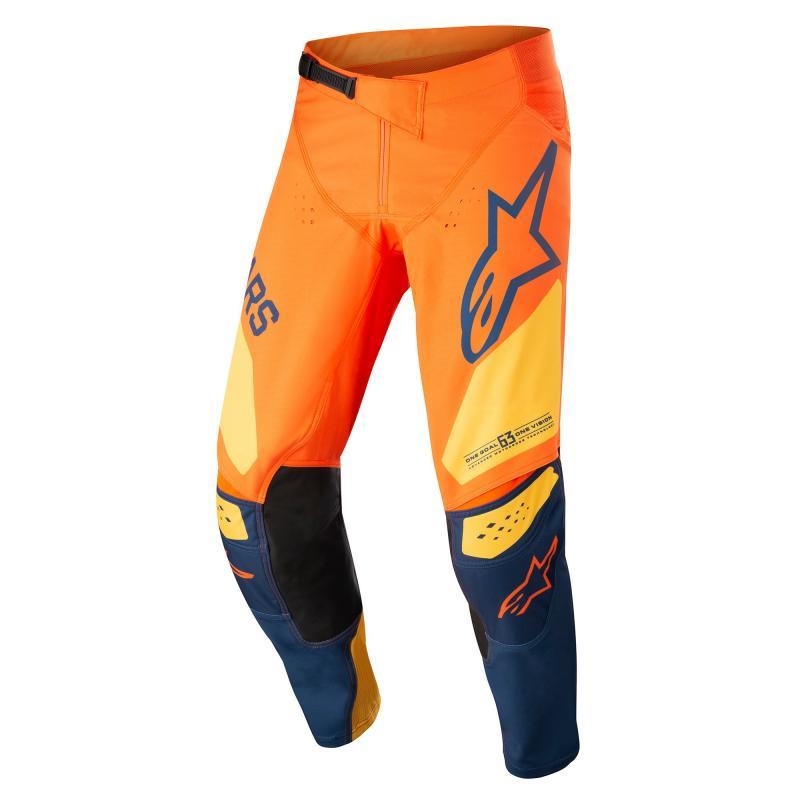 Alpinestars Techstar Factory Crossbyxor Orange/Mörkblå/Gul
