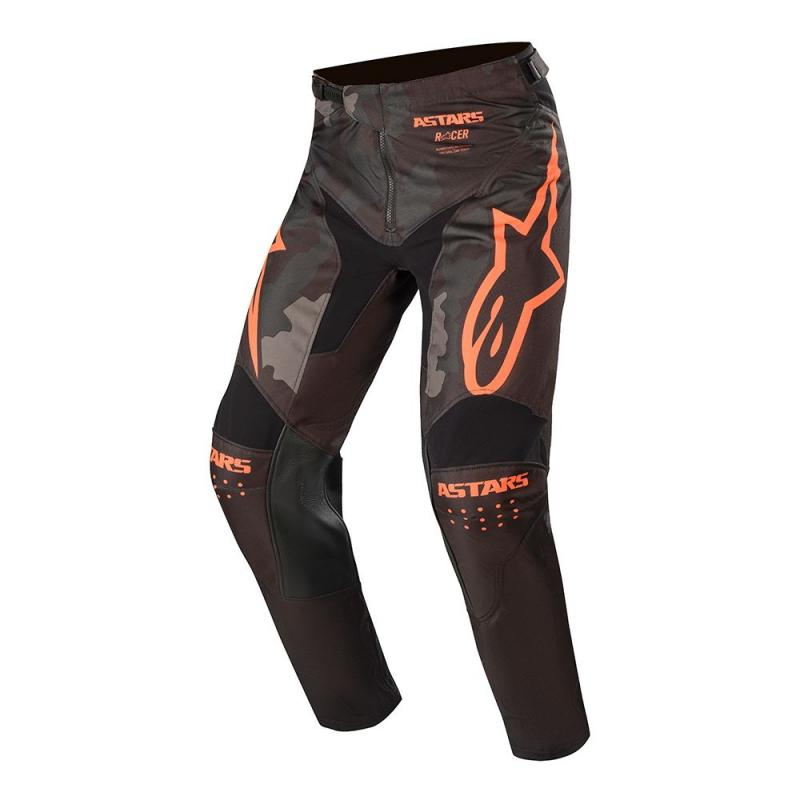 Alpinestars Racer Tactical Crossbyxor Svart/Camo-Grå/Fluo-Orange