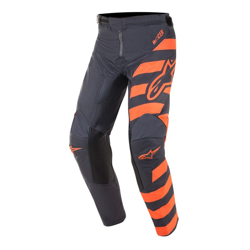 Alpinestars Racer Braap Barn Crossbyxor Antrasit/Fluo Orange/Grå