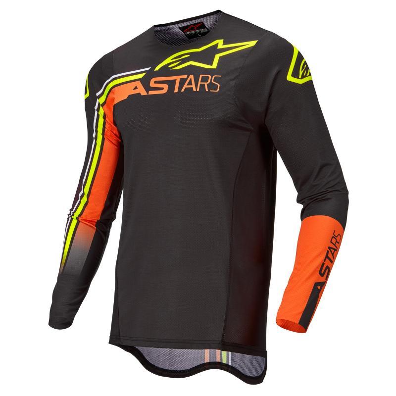 Alpinestars Supertech Blaze Crosströja Svart/Orange/Fluo-Gul