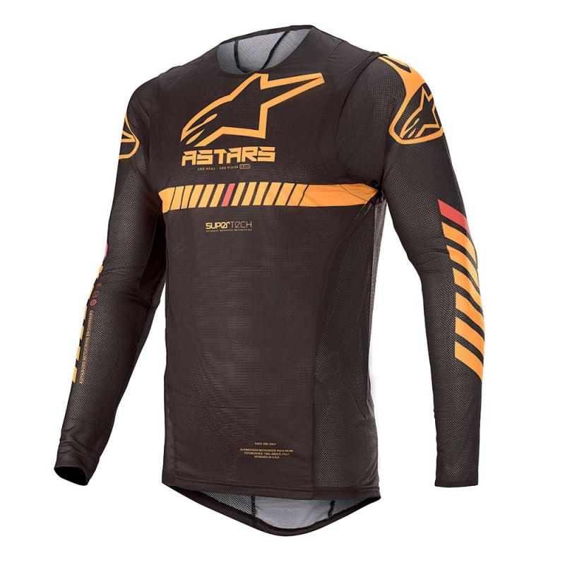 Alpinestars Supertech Crosströja Svart/Orange/Fluo-Röd