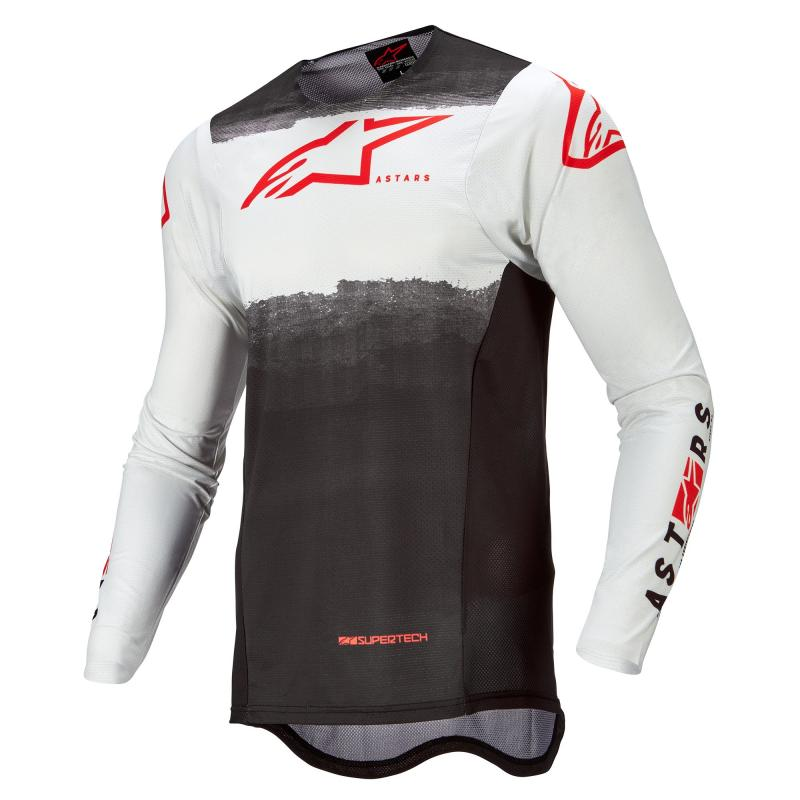 Alpinestars Supertech Foster Crosströja Vit/Svart/Fluo-Röd