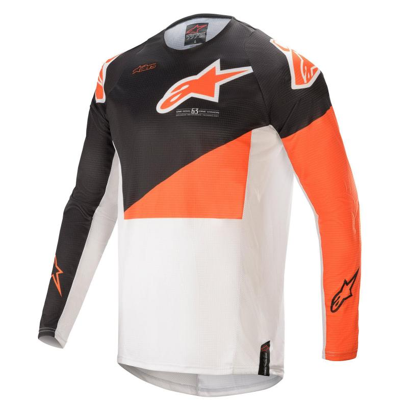 Alpinestars Techstar Factory Crosströja Grå/Orange/Vit