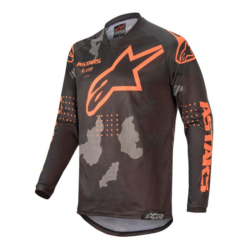 Alpinestars Racer Tactical Crosströja Svart/Camo-Grå/Fluo-Orange