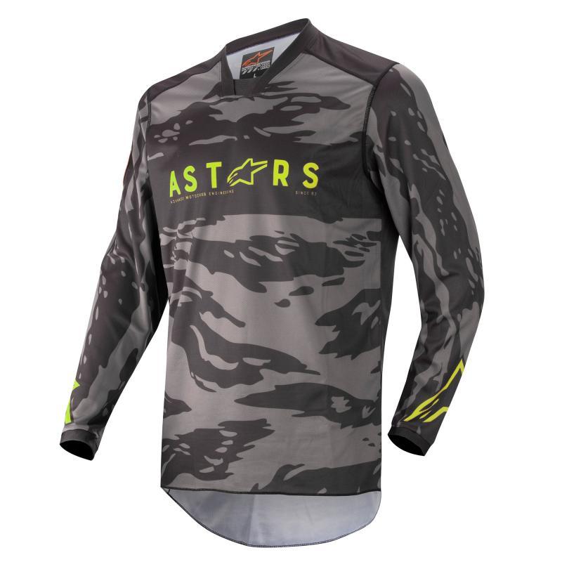Alpinestars Racer Tactical Crosströja Svart/Camo Grå/Fluo-Gul