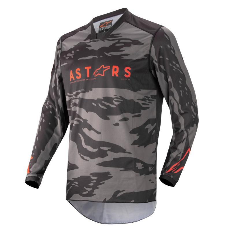 Alpinestars Racer Tactical Crosströja Svart/Camo Grå/Fluo-Röd