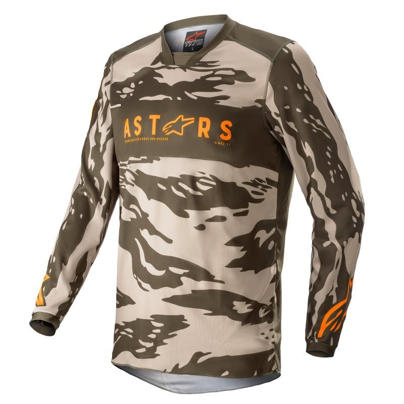Alpinestars Racer Tactical Crosströja Military Sand Camo/Tangerine