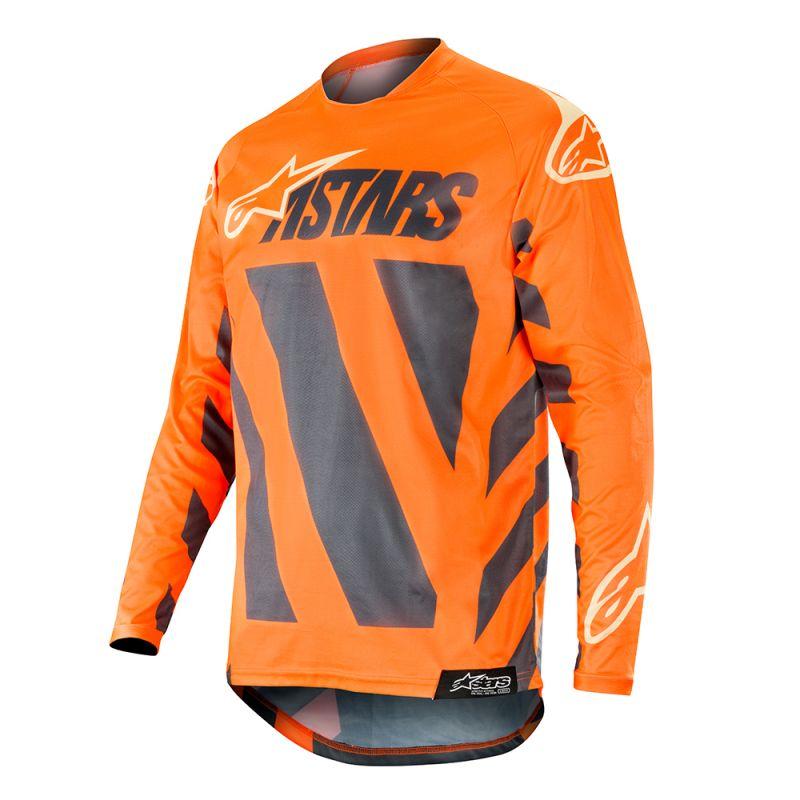 Alpinestars Racer Braap Crosströja Antrasit/Fluo Orange/Grå