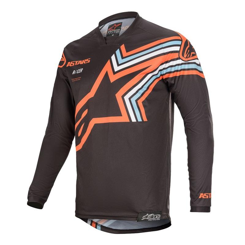 Alpinestars Racer Braap Crosströja Mörkgrå/Fluo-Orange