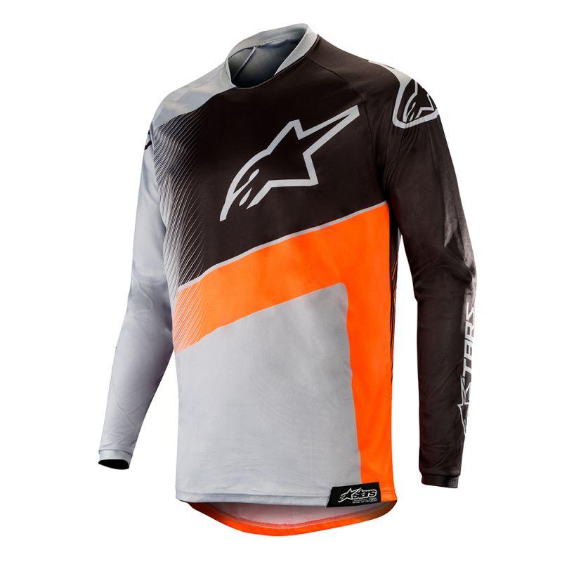 Alpinestars Racer Supermatic Crosströja Grå/Fluo Orange/Svart