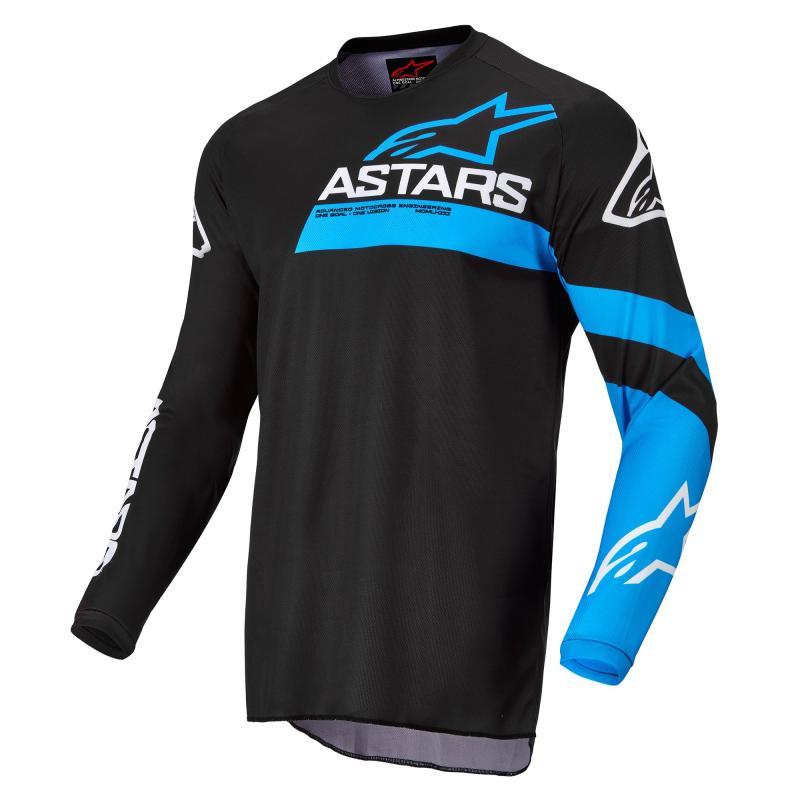Alpinestars Fluid Chaser Crosströja Svart/Neon-Blå