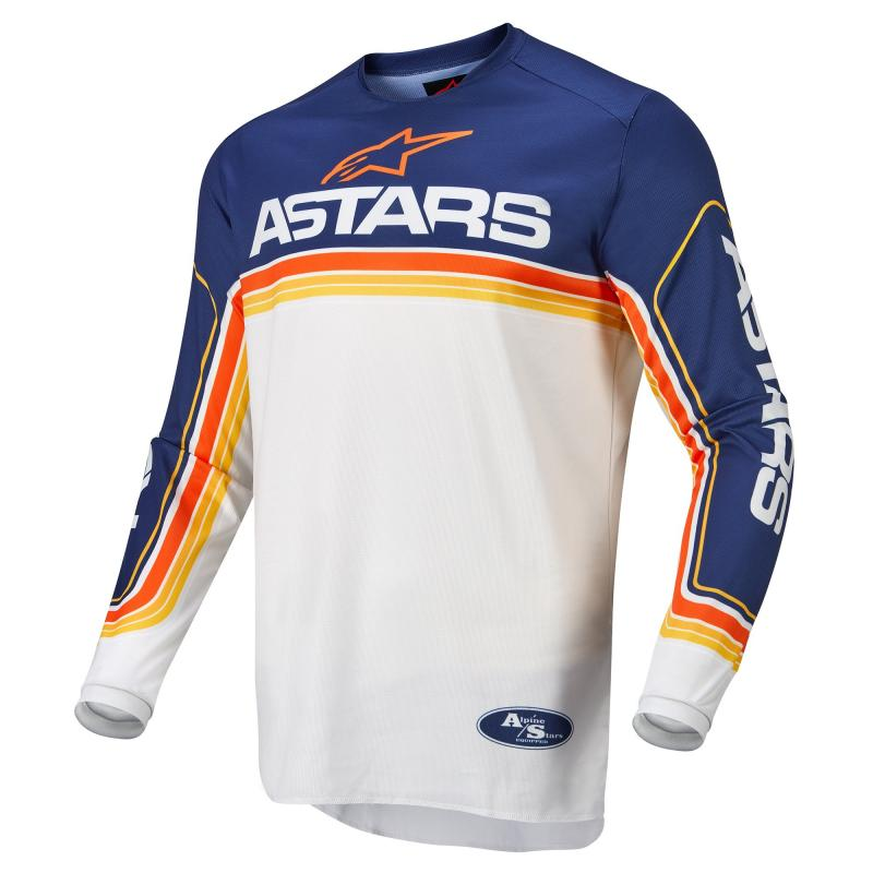 Alpinestars Fluid Speed Crosströja Mörkblå/Vit/Orange