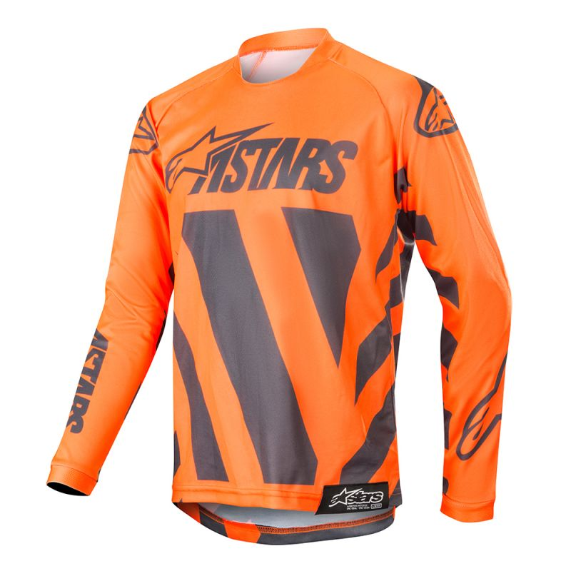 Alpinestars Racer Braap Barn Crosströja Antrasit/Fluo Orange/Grå