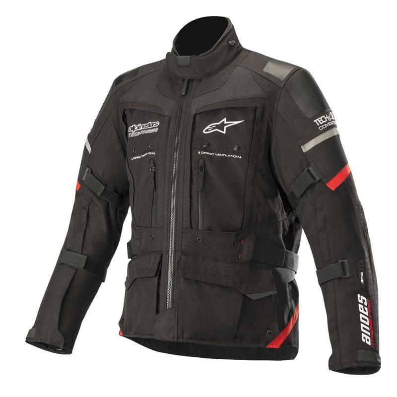 Alpinestars Andes Pro Drystar® Jacka Svart/Röd (Tech-Air® Kompatibel)