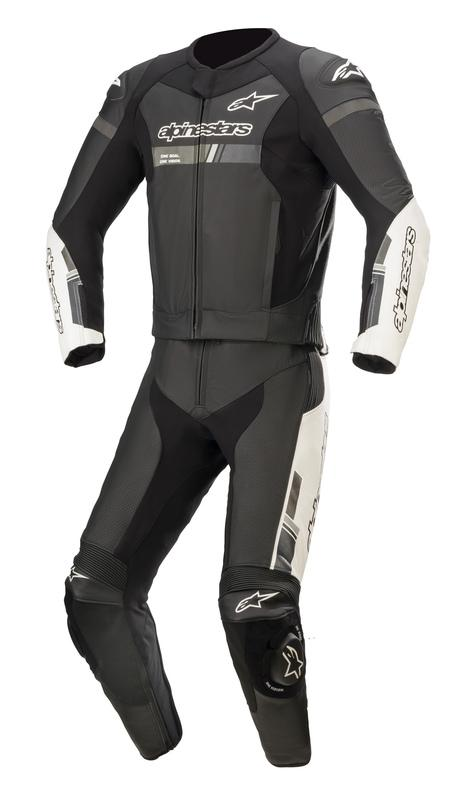 Alpinestars GP Force Chaser 2-Delat Skinnställ Svart/Vit (Tech-Air® Kompatibel)