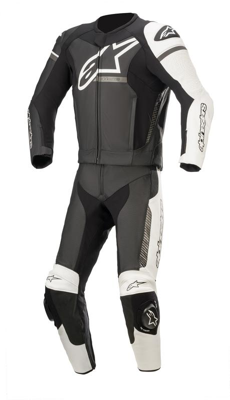 Alpinestars Gp Force Phantom 2-Delat Skinnställ Svart/Vit/Grå (Tech-Air® Kompatibel)
