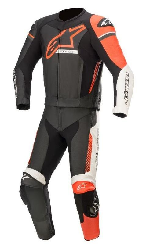 Alpinestars Gp Force Phantom 2-Delat Skinnställ Svart/Vit/Fluo-Röd (Tech-Air® Kompatibel)