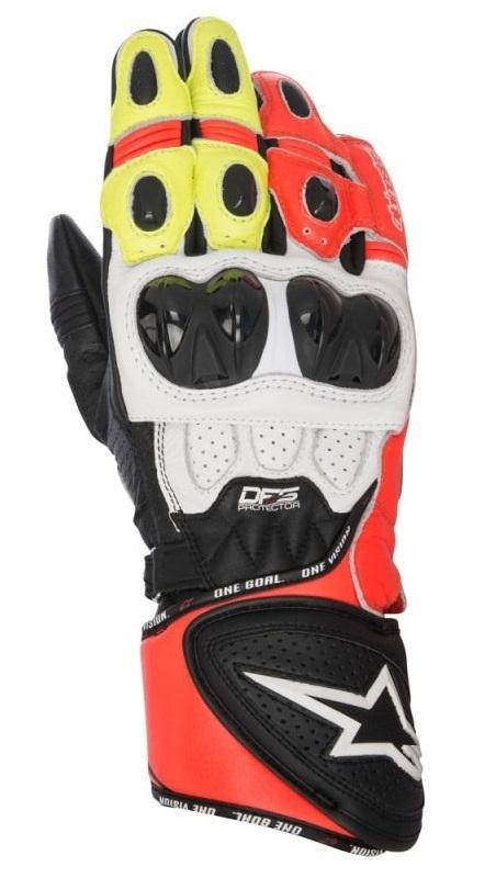 Alpinestars GP Plus R Handskar Svart/Vit/Röd/Fluo Gul