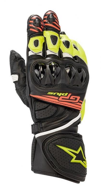 Alpinestars GP Plus R V2 Handskar Svart/Fluo-Gul/Fluo-Röd
