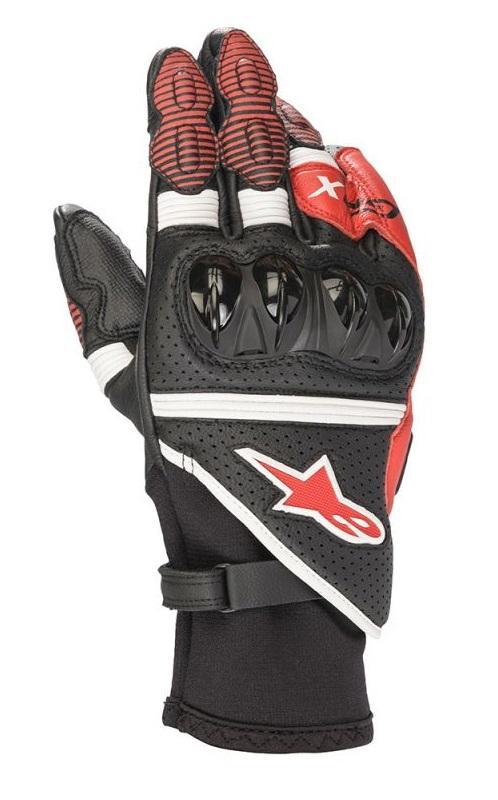 Alpinestars GP X V2 Handskar Svart/Fluo Röd